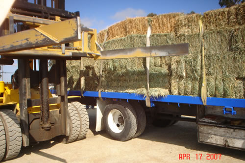 Hay bale handling equipment by HMI